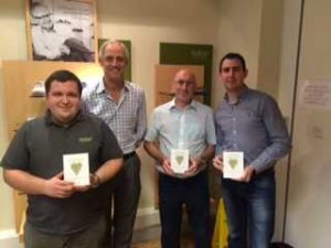 Our Oustanding Achievement WInners from our Lancashire HQ - Ian, Ste and Martyn, with our Managing Director Peter Taylor.