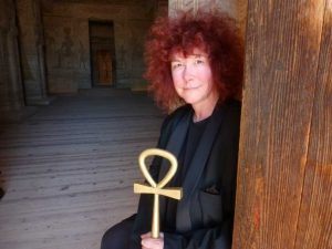 Professor Joann Fletcher has a new series on the BBC. Photo courtesy of C Turron/Lion Television.