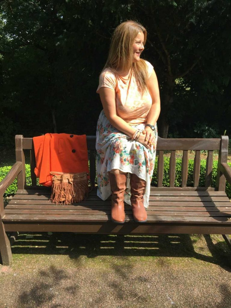 Family Lifestyle Blogger Juggle Mum Wearing Women's Hotter Boots Mystery