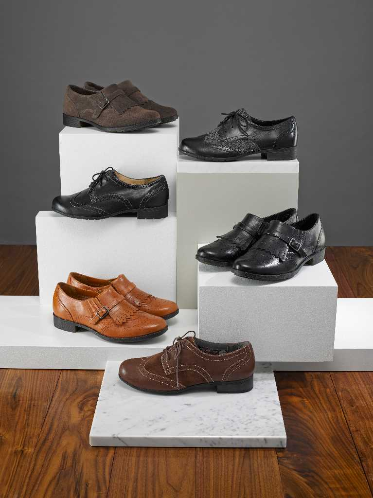Comfortable women's brogues Dalton and man tailored Seaton.