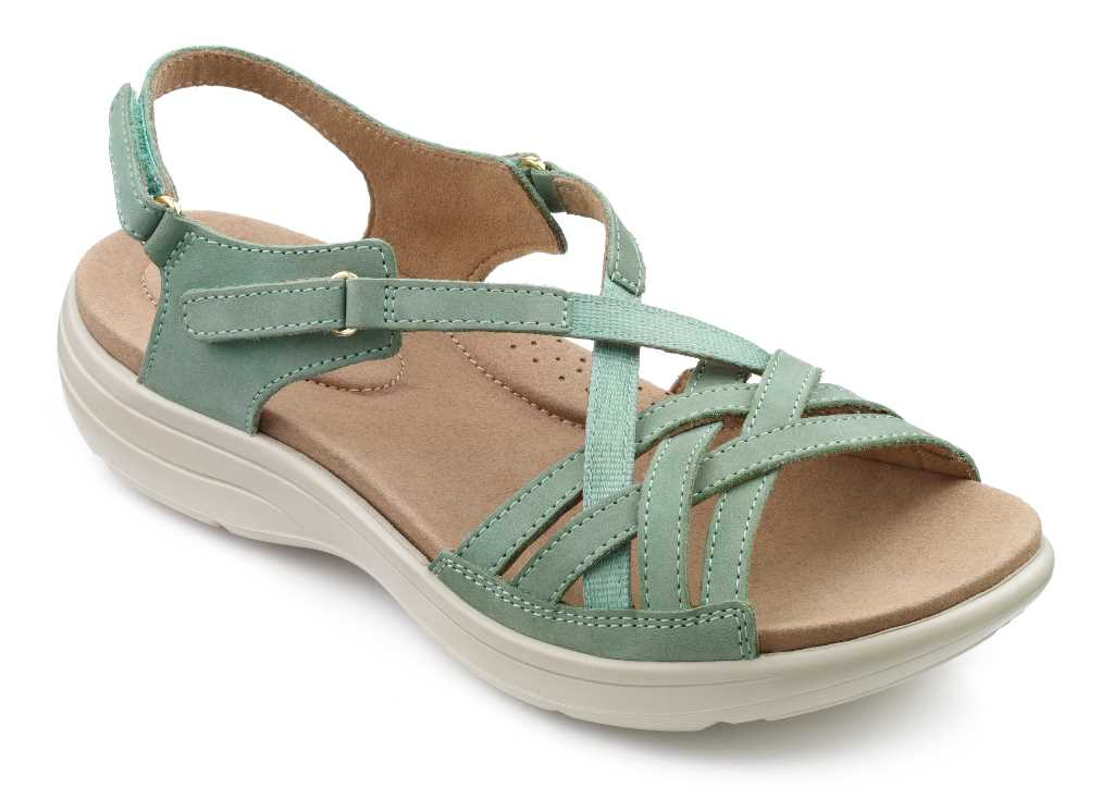 Women's summer sandal Maisie in Mid Green