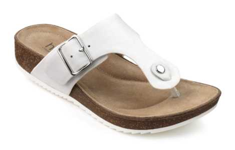 Women's toe post sandal Resort in White