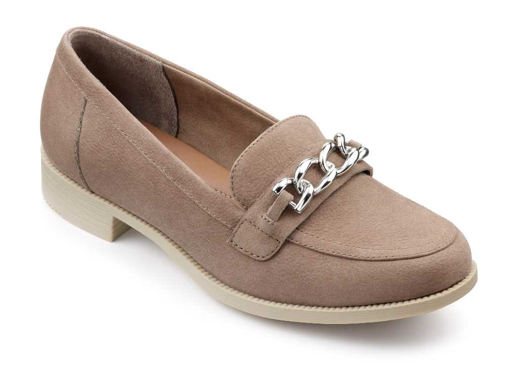 Brierton ladies loafer with chain detail is super comfy.