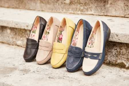 Super comfortable Sorbet ladies loafer, available in a host of spring shades.