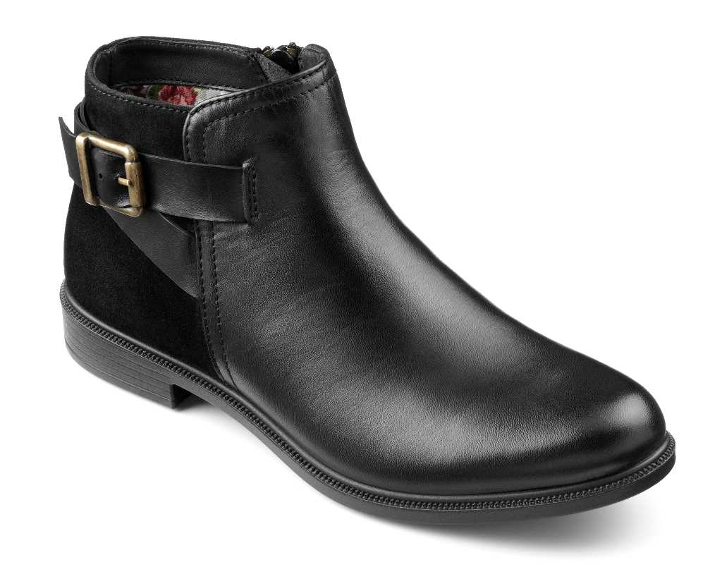 Women's boots Hampton in Black with buckle detailing