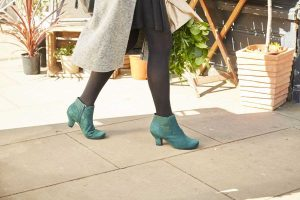 comfortable women's shoes, luxury footwear, British made, formal women's shoes, comfortable heels, suede boots, heeled winter boots