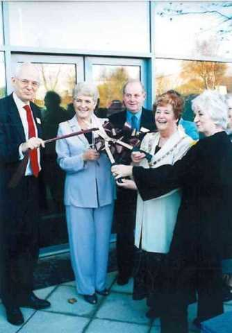 Hotter opens a new factory in 2003 helped by The Calendar Girls and the local Mayor.