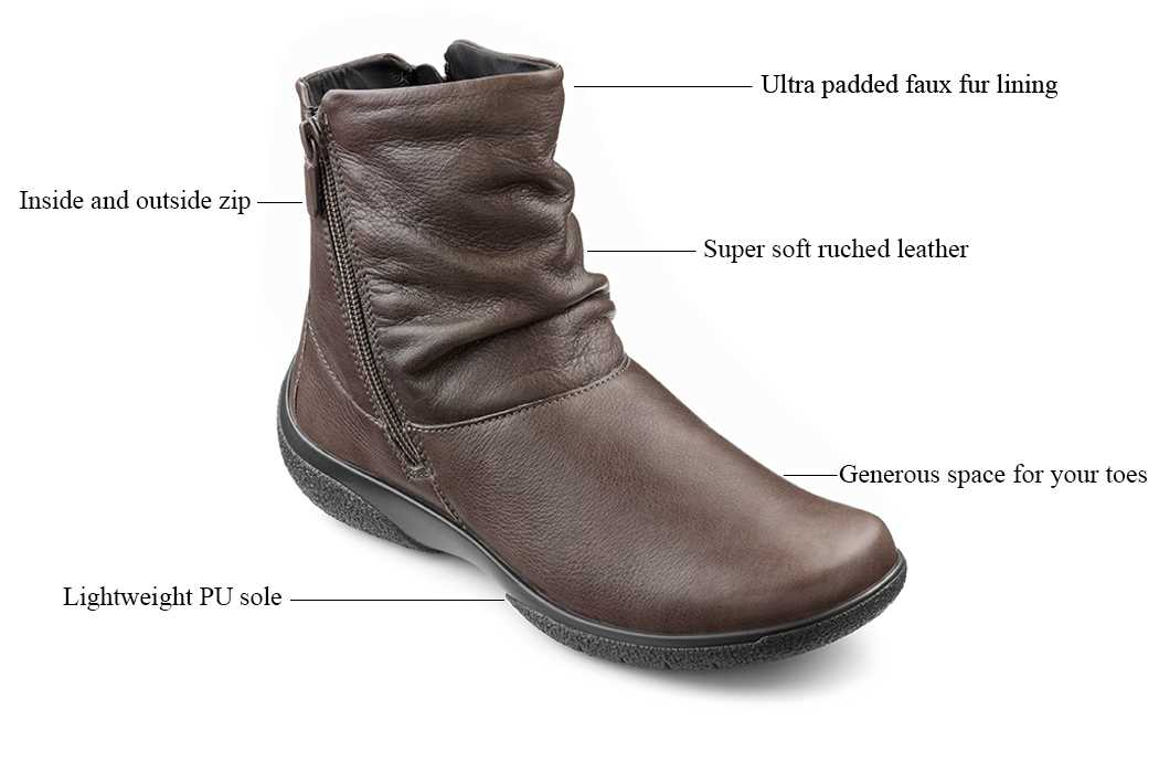 Comfortable women's shoes, winter boots, walking boots, comfortable work sheos, ladies footwear, British made, quality boots, Hotter footwear, leather shoes
