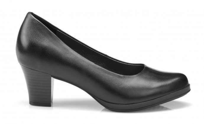 Women's vintage inspired heel Angelia in Black