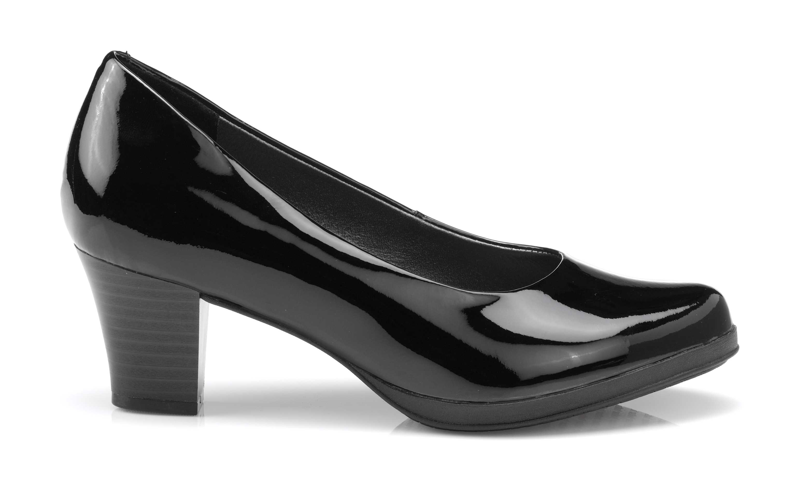 Women's black patent heel Angelica