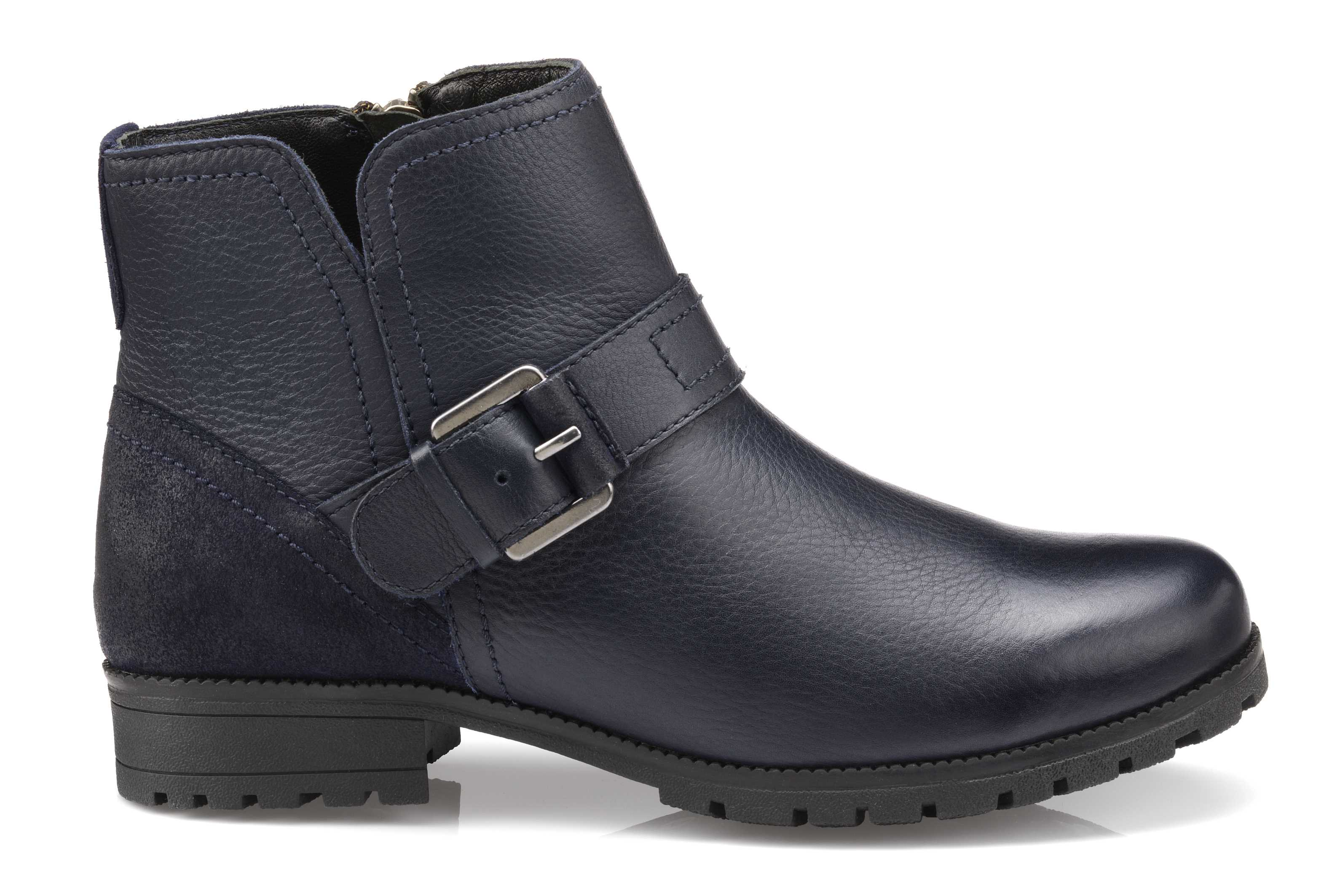 Women's biker boots Lotty in Navy