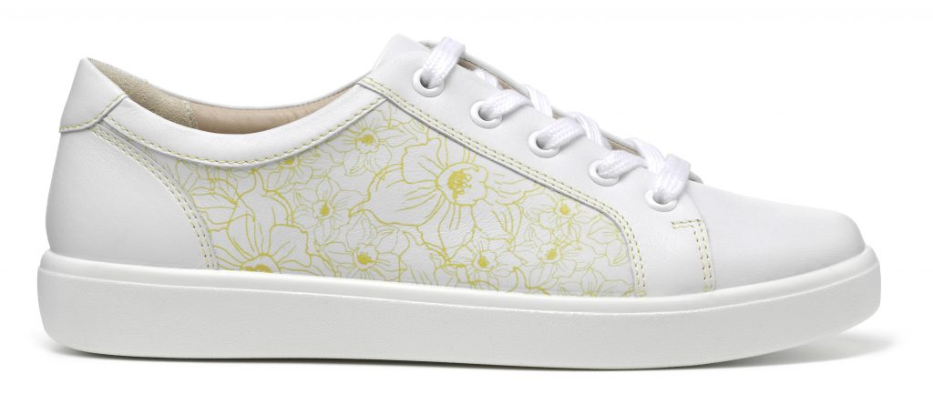 Brooke shoe in daffodil print for Marie Curie